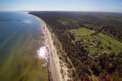 由里加海湾,拉脱维亚 库存照片