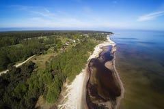 由里加海湾,拉脱维亚 库存图片