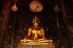 Suthat寺庙的菩萨 免版税库存图片