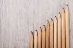 由铅笔做的进步图表 库存照片