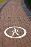 由铺路板计划了的脚轨道 免版税库存照片