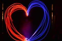 由闪烁发光物的心脏 免版税库存照片