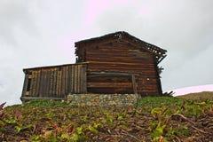 由阿尔卑斯的小屋。 免版税库存图片