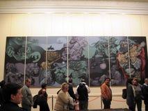 由阿根廷艺术家里卡多Carpani的印象深刻的壁画在住处Rosada博物馆 图库摄影