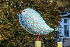 由雕刻家Constantin的被雕刻的鸟 库存照片