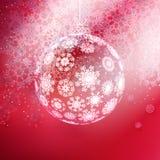 由雪花做的圣诞节球。 免版税图库摄影