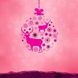 由雪花做的圣诞节装饰品。EPS 8 免版税库存图片