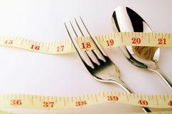 由饮食控制的重量控制概念 库存图片