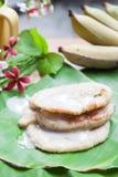 由香蕉做的泰国传统甜点 免版税库存图片