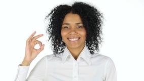 由黑人妇女的好标志白色背景的 影视素材