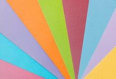 由织地不很细纸板料做的五颜六色的样式 免版税库存照片