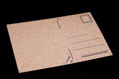 由黄柏材料的空的明信片 免版税图库摄影