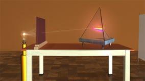 由玻璃棱镜的白光 向量例证