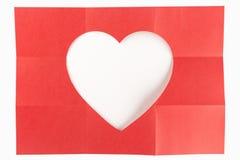 3由3白色心脏 库存照片