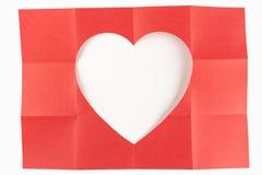 3由4白色心脏 库存照片