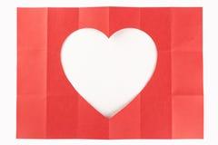 3由6白色心脏 库存照片