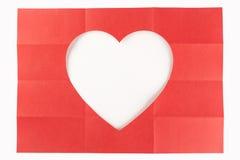 4由3白色心脏 免版税库存图片