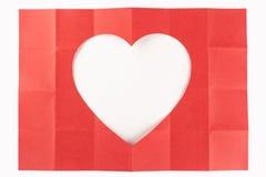 4由6白色心脏 免版税库存图片