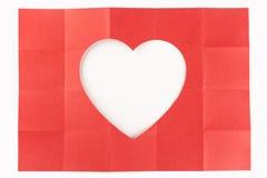 4由5白色心脏 免版税库存照片