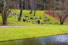 由水的公墓 库存图片