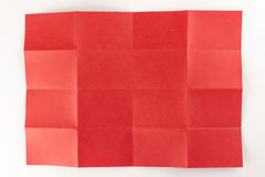 4由4红色页 免版税库存照片