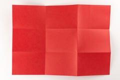 3由3红色页 免版税库存照片