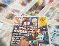 由主要国际性组织ne死Bild和唐纳德・川普就职典礼 免版税库存图片