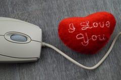 由cklick -网上约会的爱 免版税库存照片