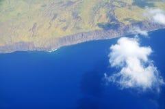 由Fogo海岸线的Cloudscape  免版税库存照片