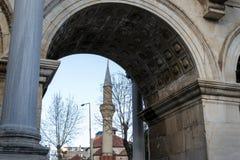 由Hadrian的门的尖塔 库存图片