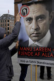 由HIZB UT-TAHIRIR AGAINT丹麦的抗议 免版税图库摄影