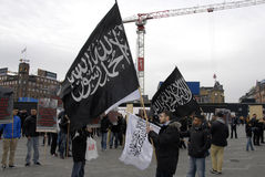 由HIZB UT-TAHIRIR AGAINT丹麦的抗议 免版税库存图片