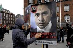 由HIZB UT-TAHIRIR AGAINT丹麦的抗议 图库摄影