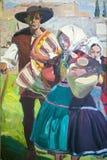 由Joaquï ¿ ½ n Sorolla如在Sorolla博物馆,马德里,西班牙中看到的y巴斯蒂达的绘画(1863-1923) 库存照片