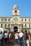 由Legambiente回收和清洁能源天在帕多瓦,意大利 免版税库存照片