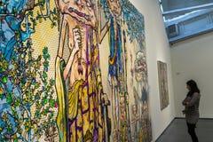 由Murakami `陈列的` Murakami在Astrup Fearnley Museet在奥斯陆,挪威 免版税图库摄影