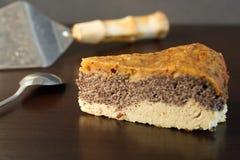 由paleo和素食友好的成份做的自创罂粟种子蛋糕 免版税库存照片