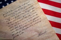 由U的盖兹堡演说讲话 S Abraham Lincoln总统 免版税库存照片