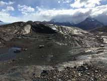 由Upsala冰川-最大它在南美洲 免版税库存照片