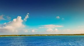 甲晕岩礁,巴哈马2017年10月10日, 免版税库存照片