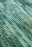 甲板对角线木头 免版税库存照片