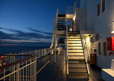 甲板渡轮 库存图片