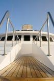 甲板游艇 库存图片
