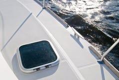 甲板游艇 库存照片