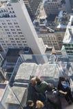 甲板观察岩石顶层 免版税库存图片