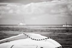 甲板详细资料老绳索风船样式 库存照片