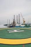 甲板钻直升机部件 免版税库存照片
