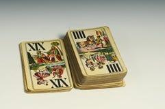 甲板playcards 库存图片