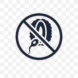 甲状腺机能不足的透明象 从Dis的甲状腺机能不足的标志设计 库存例证