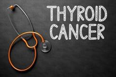 甲状腺癌-在黑板的文本 3d例证 库存照片
